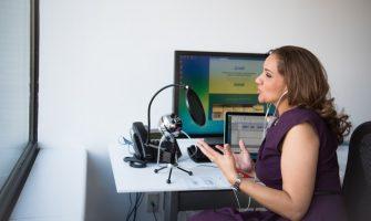 women on podcast